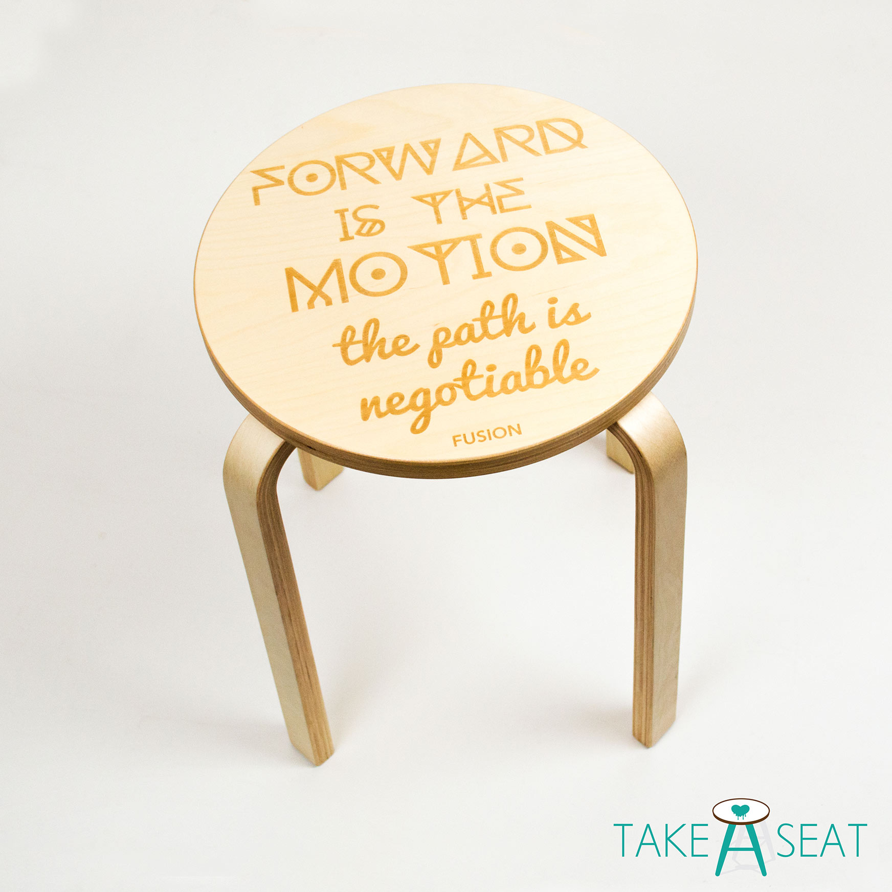 Forward Is The Motion Stool